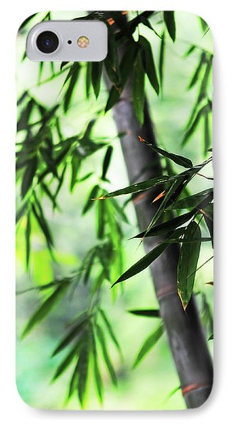 Bamboo Leaves IPhone Case by Jenny Rainbow