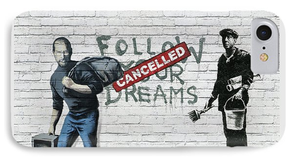 Banksy - The Tribute - Follow Your Dreams - Steve Jobs IPhone Case