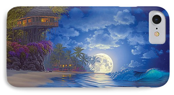 Banyan Moon IPhone Case by Al Hogue