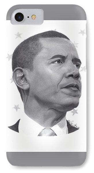 Barack Obama IPhone Case by Oliver Johnson