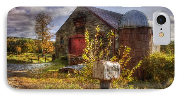 Barn And Silo In Autumn IPhone Case