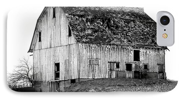 Barn On The Hill Bw Phone Case by Julie Hamilton