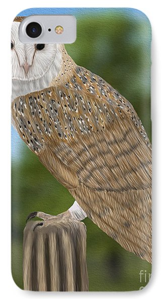 Barn Owl IPhone Case by Walter Colvin