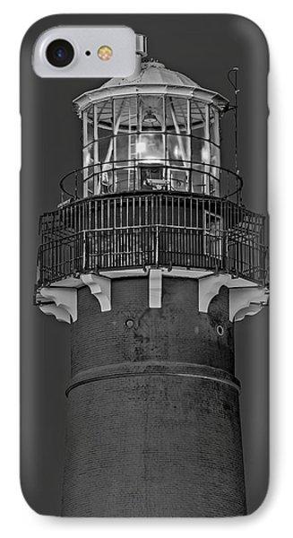 Barnegat Lighthouse Bw IPhone Case by Susan Candelario