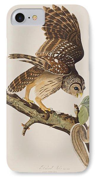Squirrel iPhone 7 Case - Barred Owl by John James Audubon