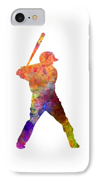 Baseball Player Waiting For A Ball Phone Case by Pablo Romero