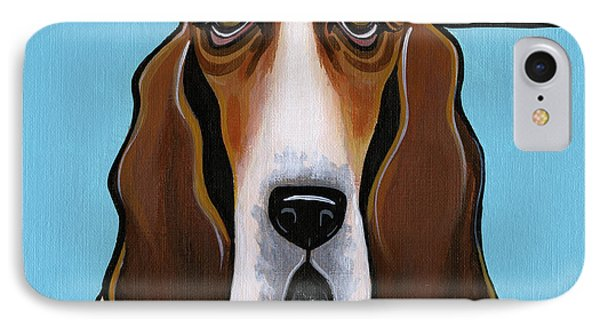 Basset Hound IPhone Case by Leanne Wilkes