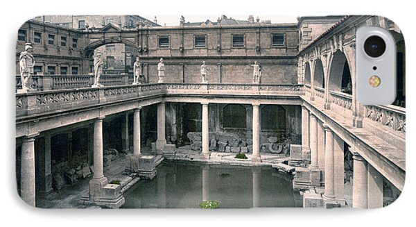 Bath - Somerset - England - Roman Baths And Abbey IPhone Case