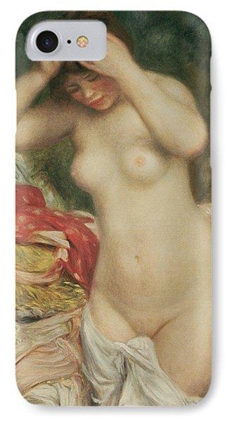 Bather Arranging Her Hair Phone Case by Pierre Auguste Renoir