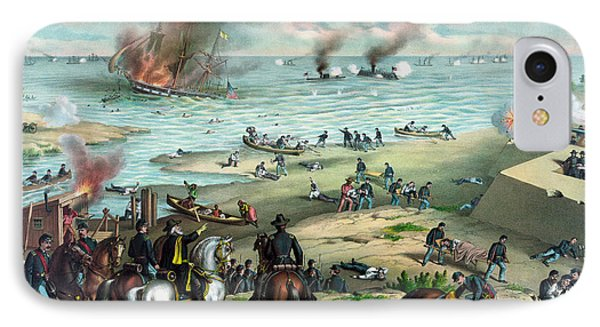 Battle Between The Monitor And Merrimac IPhone Case by War Is Hell Store