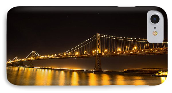 Bay Bridge And Moon IPhone Case by Sungwook Choi