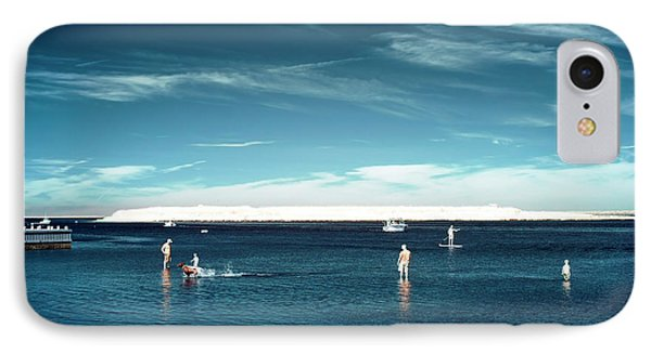 Beach Haven Blues IPhone Case by John Rizzuto