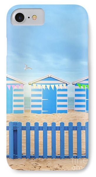 Bunting iPhone 7 Case - Beach Huts by Amanda Elwell