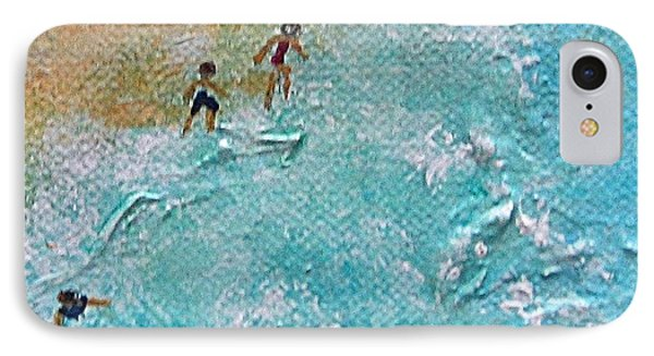 IPhone Case featuring the painting Beach1 by Diana Bursztein