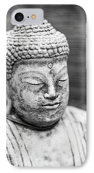 Beautiful Buddha Statue Portrait With Shallow Depth Of Field For IPhone Case by Matthew Gibson
