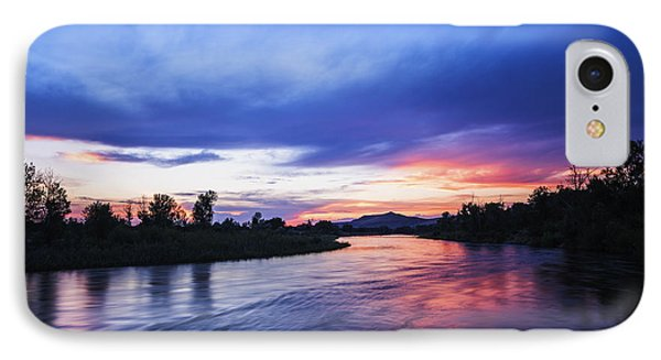 Beautiful Sunset Along Boise River IPhone Case by Vishwanath Bhat