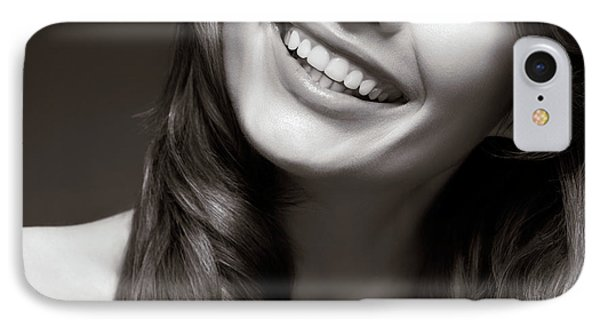 Beautiful Young Smiling Woman Phone Case by Oleksiy Maksymenko
