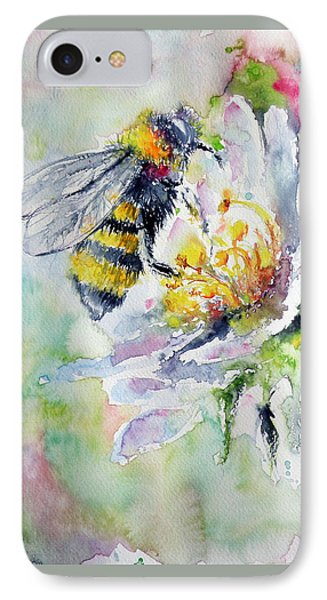 Bee On Flower IPhone Case by Kovacs Anna Brigitta