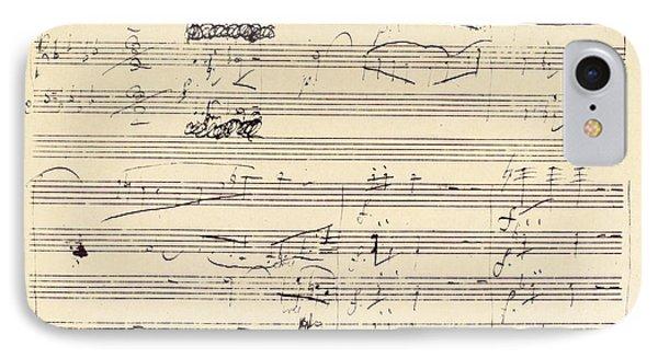 Beethoven Manuscript, 1826 Phone Case by Granger