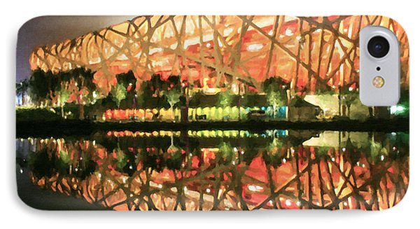 Beijing National Stadium IPhone Case by Lanjee Chee