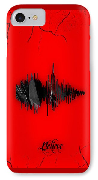 Believe Recorded Soundwave Collection IPhone Case by Marvin Blaine