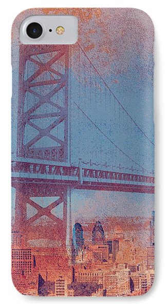 Ben Franklin Bridge Philadelphia Pa IPhone Case by Brandi Fitzgerald