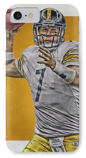 Ben Roethlisberger Pittsburgh Steelers Art IPhone Case by Joe Hamilton