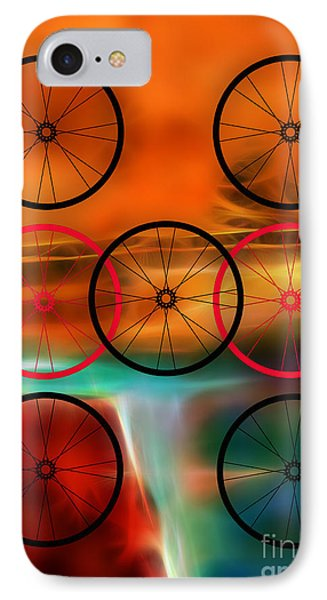 Bicycle Wheel Collection IPhone Case by Marvin Blaine
