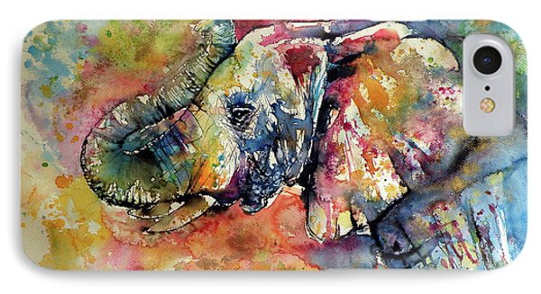 Big Colorful Elephant IPhone 7 Case