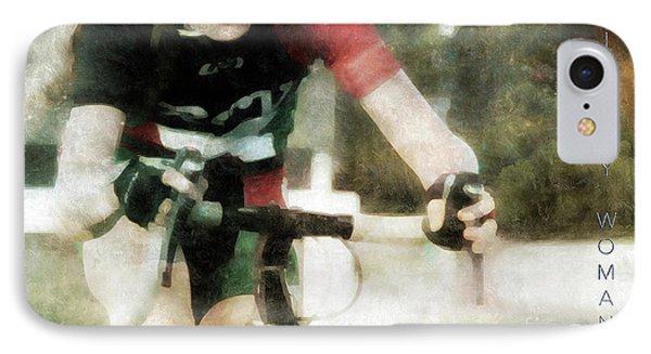 Bike By Woman Phone Case by Steven Digman
