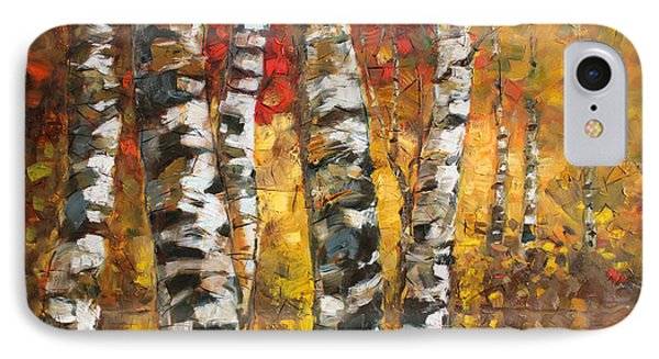 Birch Trees In Golden Fall IPhone Case