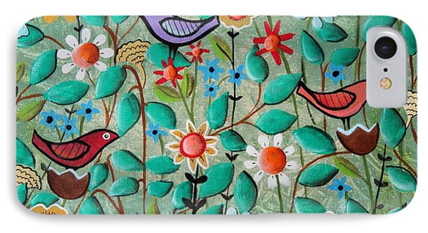 Birds And Blooms IPhone Case by Karla Gerard