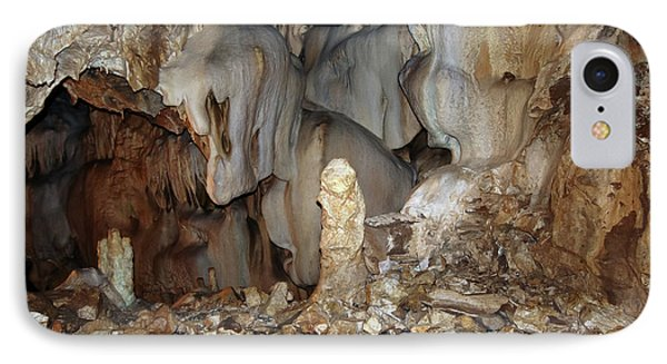 IPhone Case featuring the photograph Bizarre Mineral Formations In Stalactite Cavern by Michal Boubin