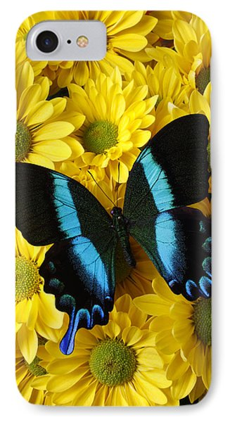 Black And Blue Butterfly IPhone Case by Garry Gay