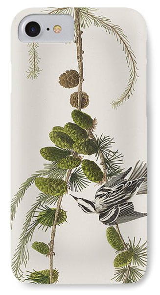 Black And White Creeper IPhone Case by John James Audubon