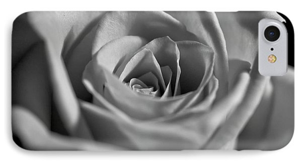 Black And White Rose IPhone Case by Micah May