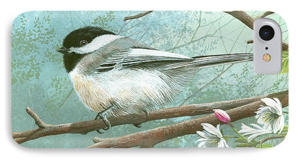 Black Cap Chickadee IPhone Case by Mike Brown