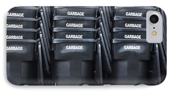 Black Garbage Bins Phone Case by Don Mason