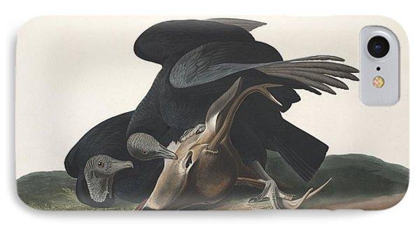 Black Vulture IPhone Case by Anton Oreshkin