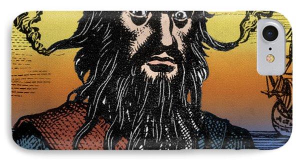 Blackbeard, Edward Teach, English Pirate IPhone Case by Science Source
