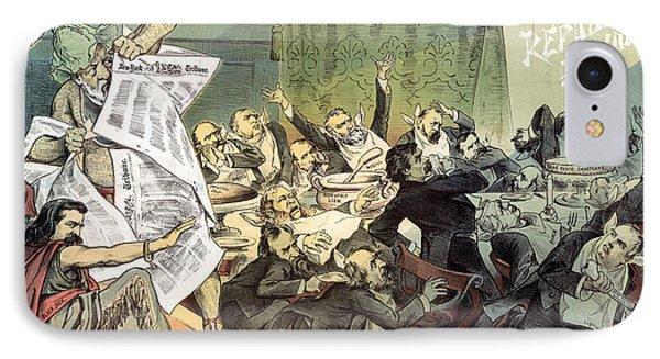 Blaine Cartoon, 1884 Phone Case by Granger
