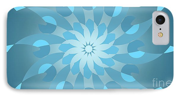 Blue Abstract Star For Home Decoration IPhone Case by Pablo Franchi