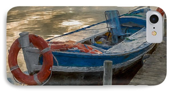 IPhone Case featuring the photograph Blue Boat by Juan Carlos Ferro Duque
