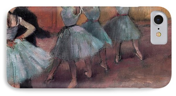 Blue Dancers IPhone Case by Edgar Degas