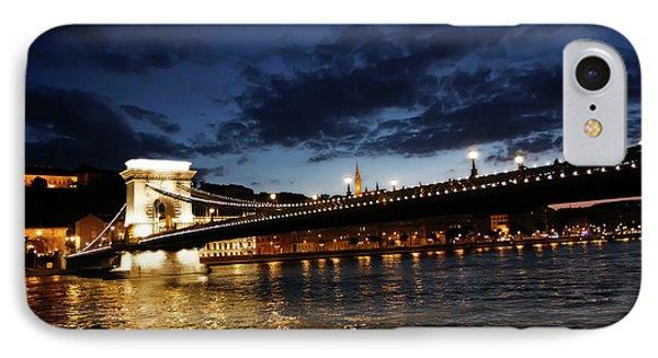 Blue Danube Sunset Budapest IPhone Case by KG Thienemann