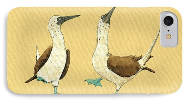 Boobies iPhone 7 Case - Blue Footed Boobies by Juan  Bosco