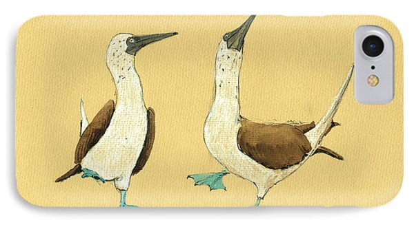 Blue Footed Boobies IPhone 7 Case by Juan  Bosco