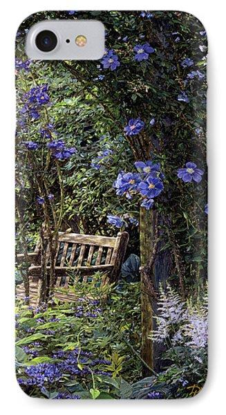 Blue Garden Respite Phone Case by Doug Kreuger