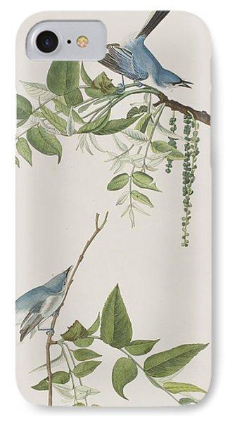 Flycatcher iPhone 7 Case - Blue Grey Flycatcher by John James Audubon