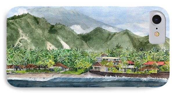 IPhone Case featuring the painting Blue Lagoon Bali Indonesia by Melly Terpening